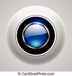 Button 3d blue