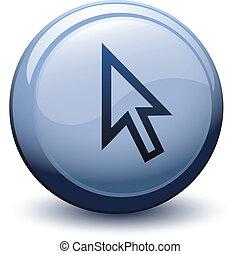 button 3d cursor arrow white