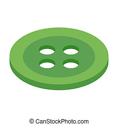Button 3d isometric icon