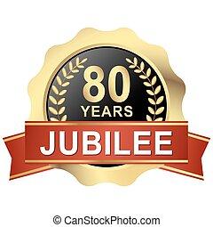 button 80 years jubilee