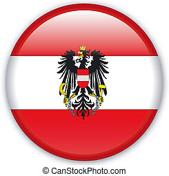 Button Austria - Button with map from Austria