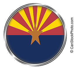Button badge of arizona