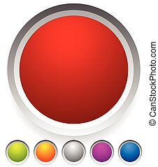 Button, badge shapes / backgrounds in several colors