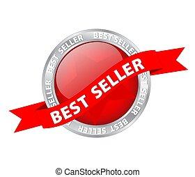Button Banner Best Seller, stock vector illustration