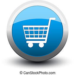 button basket 2d blue