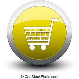 button basket 2d yellow