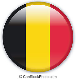Button Belgium - Button with map from Belgium