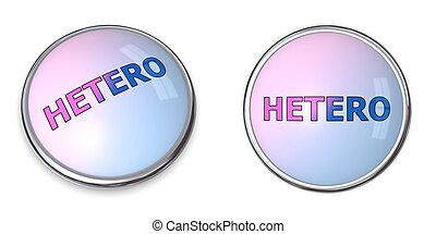 Button Blue-Pink Word Hetero