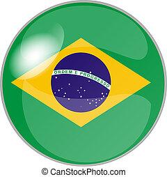button brazil - illustration of a button brazil