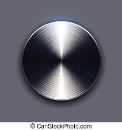 Button brushed metal texture