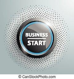 Button Business Start Halftone