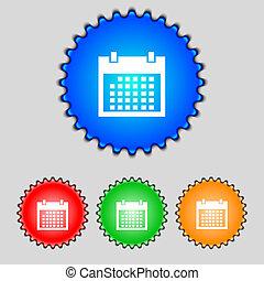 button., buttons., sätta, dagar, månad, vektor, icon., ...