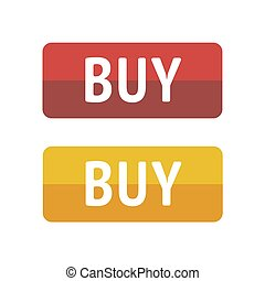 Button buy on white background. Vector illustration EPS 10.