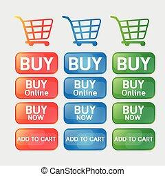 Button buy online shopping cart