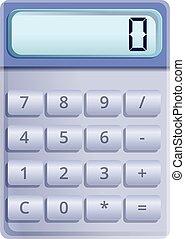 Button calculator icon, cartoon style