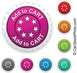 button., carreta, adicionar, distinção