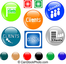 button clients colored icon
