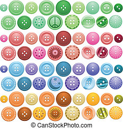 Button collection - A large set of buttons in different...