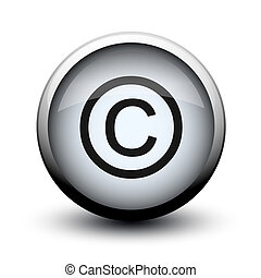 button copyright 2d