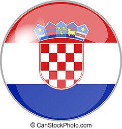 button croatia - illustration of a button croatia