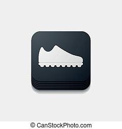 button:, cuadrado, zapatillas