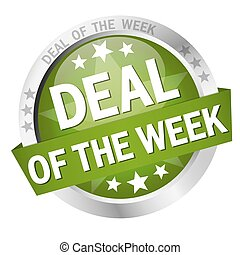 button Deal of the week - colored button with banner and...