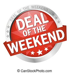 colored button with banner and text Deal of the weekend