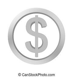 button dollar chrome