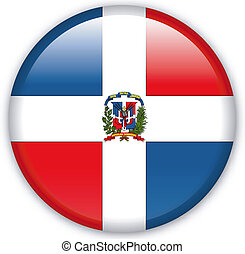 Button Dominican Republic - Button with map from Dominican...