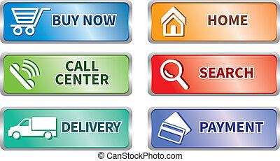 Button e commerce set