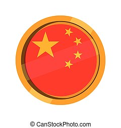 Button flag of China