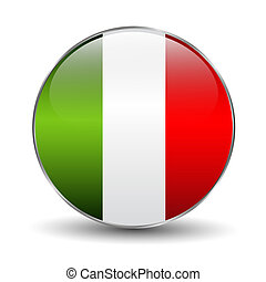 Button flag of Italy