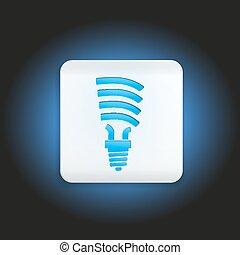 Button fluorescent light bulb
