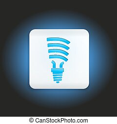Button fluorescent light bulb