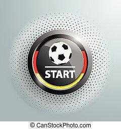 Button Football Germany Start Halftone