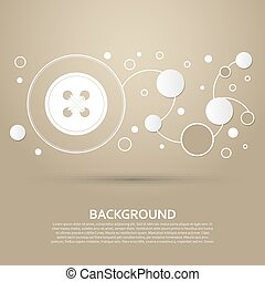 button for clothes icon on a brown background with elegant style and modern design infographic. Vector