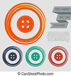 button for clothes icon on the red, blue, green, orange buttons for your website and design with space text. Vector