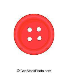 Button for clothing icon, cartoon style - Button for...