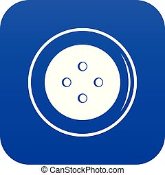 Button for clothing icon digital blue
