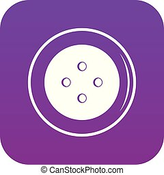 Button for clothing icon digital purple