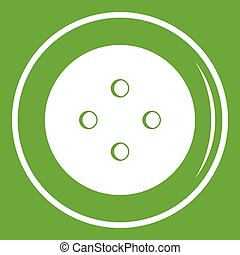 Button for clothing icon green