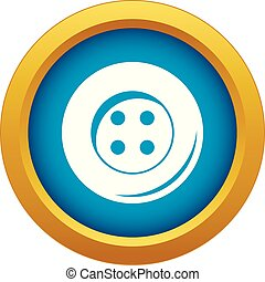 Button for sewing icon blue vector isolated