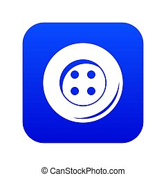 Button for sewing icon digital blue