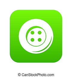 Button for sewing icon digital green