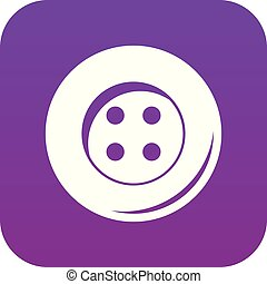 Button for sewing icon digital purple