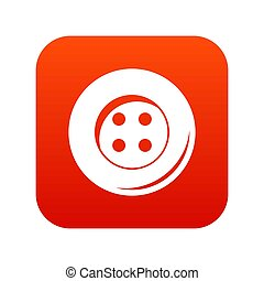 Button for sewing icon digital red
