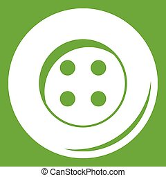 Button for sewing icon green