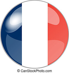 button france - illustration of a button france