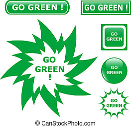 button go green icons