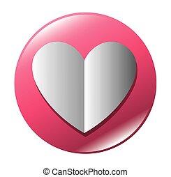 button heart love icon graphic